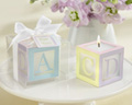 Baby Shower Favor - Baby Block Candle