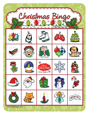 Printable Christmas Bingo 5 x 5