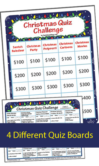 Christmas Quiz Challenge - Jeopardy like Game