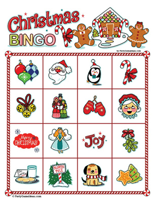 Printable Christmas Bingo 4 x 4