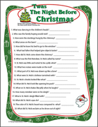 Twas the Night Before Christmas Trivia