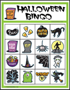 Printable Halloween Bingo 4x4