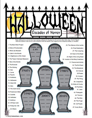 Halloween Movie TV Trivia - My Ghoul Friday
