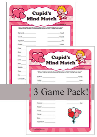 Printable Cupid's Mind Match