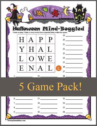 Halloween Mind Boggled 5 Game Pack