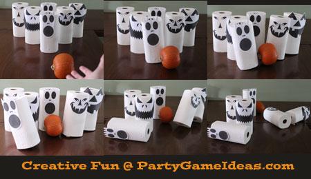 Kids Pumpkin Bowling