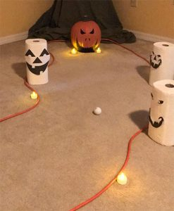Pumpkin Golf Obstacles - In the way or on the side, get creative.